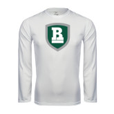 Performance White Longsleeve Shirt-Shield