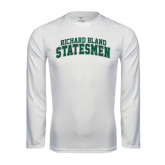 Performance White Longsleeve Shirt-Arched Richard Bland Statesmen