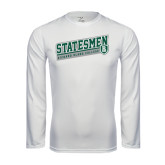 Performance White Longsleeve Shirt-Statesmen - Richard Bland College