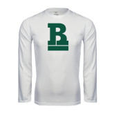 Performance White Longsleeve Shirt-RB Stacked