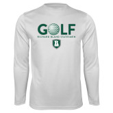 Performance White Longsleeve Shirt-Golf Ball Design
