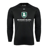 Under Armour Black Long Sleeve Tech Tee-Richard Bland Statemen Stacked