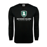 Black Long Sleeve TShirt-Richard Bland Statemen Stacked