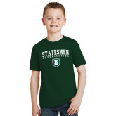 Youth Dark Green T Shirt-Cheerleading Arched Design