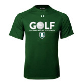 Under Armour Dark Green Tech Tee-Golf Ball Design