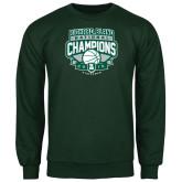 Dark Green Fleece Crew-2015 Basketball Champions
