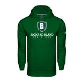 Under Armour Dark Green Performance Sweats Team Hoodie-Richard Bland Statemen Stacked