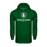Under Armour Dark Green Performance Sweats Team Hoodie-Golf