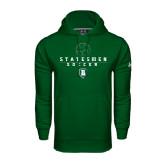 Under Armour Dark Green Performance Sweats Team Hoodie-Soccer Stacked Design