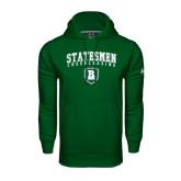 Under Armour Dark Green Performance Sweats Team Hoodie-Cheerleading Arched Design