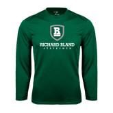 Performance Dark Green Longsleeve Shirt-Richard Bland Statemen Stacked