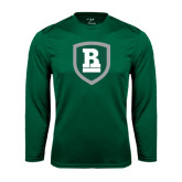 Performance Dark Green Longsleeve Shirt-Shield