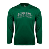 Performance Dark Green Longsleeve Shirt-Arched Richard Bland Statesmen