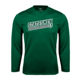 Performance Dark Green Longsleeve Shirt-Statesmen - Richard Bland College