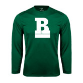 Performance Dark Green Longsleeve Shirt-RB Stacked