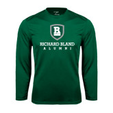 Performance Dark Green Longsleeve Shirt-Alumni