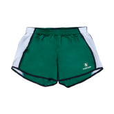 Ladies Dark Green/White Team Short-Richard Bland Statemen Stacked