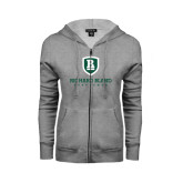 ENZA Ladies Grey Fleece Full Zip Hoodie-Richard Bland Statemen Stacked