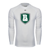 Under Armour White Long Sleeve Tech Tee-Shield