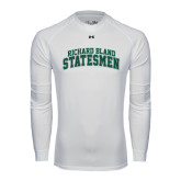 Under Armour White Long Sleeve Tech Tee-Arched Richard Bland Statesmen