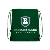 Dark Green Drawstring Backpack-Richard Bland Statemen Stacked