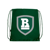 Dark Green Drawstring Backpack-Shield