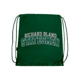 Dark Green Drawstring Backpack-Arched Richard Bland Statesmen