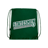 Dark Green Drawstring Backpack-Statesmen - Richard Bland College