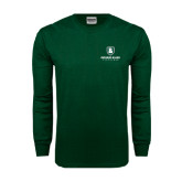 Dark Green Long Sleeve T Shirt-Richard Bland Statemen Stacked