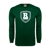 Dark Green Long Sleeve T Shirt-Shield