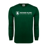 Dark Green Long Sleeve T Shirt-Richard Bland Statemen Flat