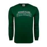 Dark Green Long Sleeve T Shirt-Arched Richard Bland Statesmen