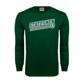 Dark Green Long Sleeve T Shirt-Statesmen - Richard Bland College