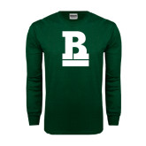Dark Green Long Sleeve T Shirt-RB Stacked