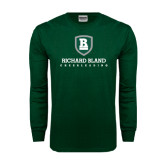 Dark Green Long Sleeve T Shirt-Cheerleading