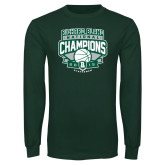 Dark Green Long Sleeve T Shirt-2015 Basketball Champions