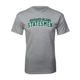 Grey T Shirt-Arched Richard Bland Statesmen