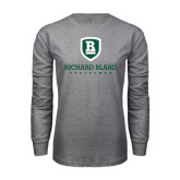 Grey Long Sleeve T Shirt-Richard Bland Statemen Stacked