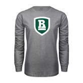 Grey Long Sleeve T Shirt-Shield