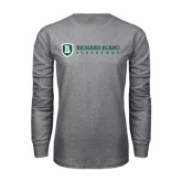 Grey Long Sleeve T Shirt-Richard Bland Statemen Flat