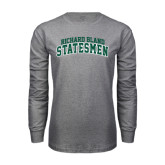 Grey Long Sleeve T Shirt-Arched Richard Bland Statesmen