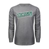 Grey Long Sleeve T Shirt-Statesmen - Richard Bland College