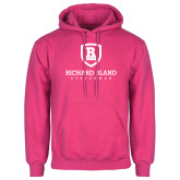 Fuchsia Fleece Hoodie-Richard Bland Statemen Stacked