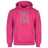 Fuchsia Fleece Hoodie-RB Stacked Rhinestones