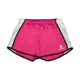 Ladies Fuchsia/White Team Short-Richard Bland Statemen Stacked