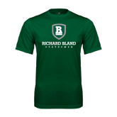 Performance Dark Green Tee-Richard Bland Statemen Stacked