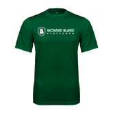 Performance Dark Green Tee-Richard Bland Statemen Flat