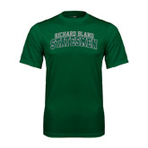 Performance Dark Green Tee-Arched Richard Bland Statesmen