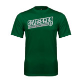 Performance Dark Green Tee-Statesmen - Richard Bland College