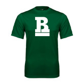 Performance Dark Green Tee-RB Stacked